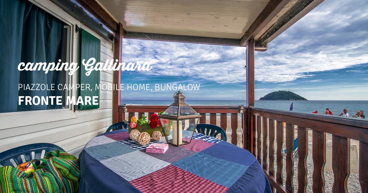 Camping gallinara sul mare ad albenga spiaggia privata for Disegni casa bungalow
